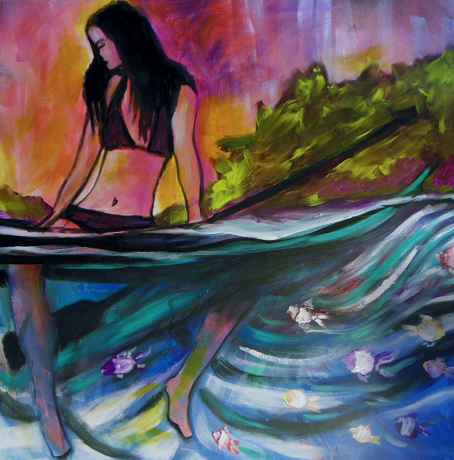 Paddle Board Painting - Paddle Love by Kimberly Dawn Clayton