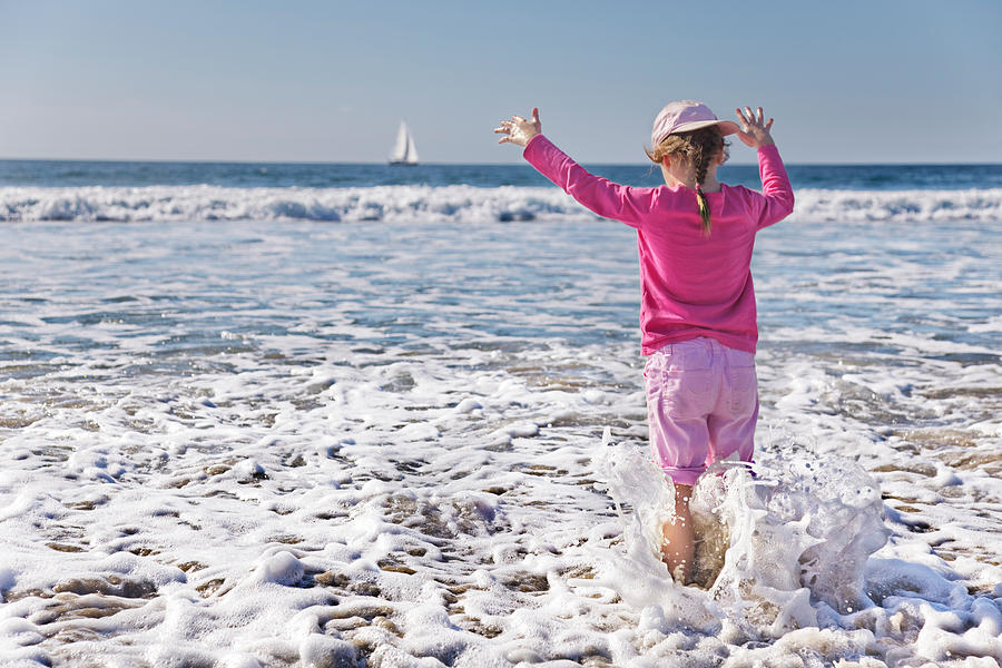 Beach Photograph - Paddling In The Ocean by Jo Ann Snover