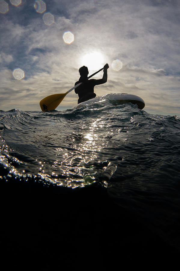 Paddling On The Sea Photograph by William Rhamey - Azur Diving