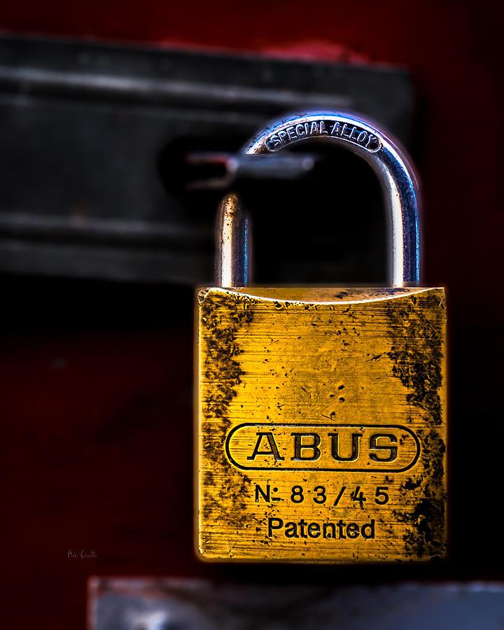 Lock Photograph - Padlock by Bob Orsillo