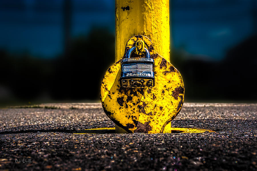Landscape Photograph - Padlock Number Two by Bob Orsillo