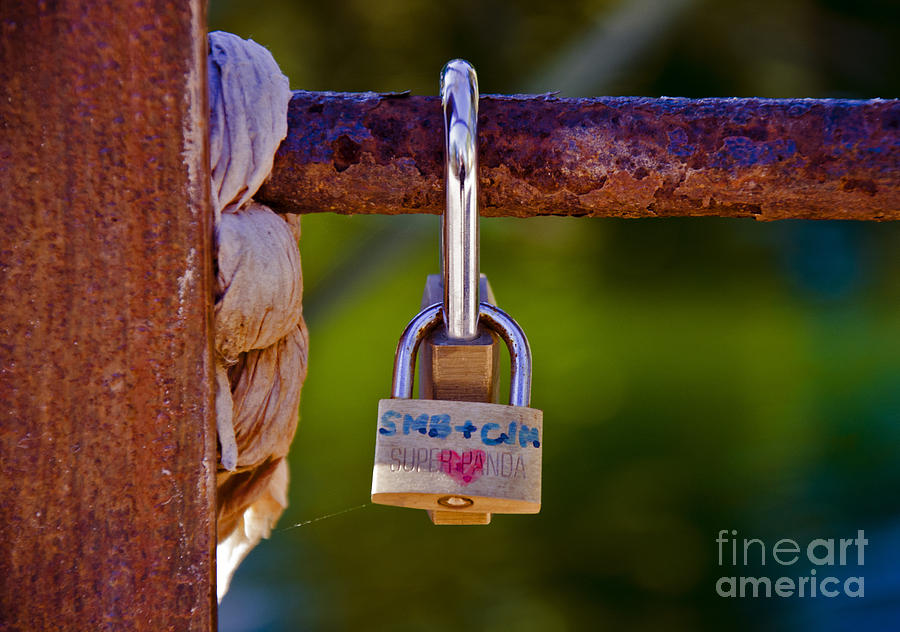 Photograph Photograph - Padlock Technology Love  by Victoria Herrera