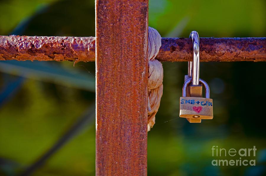 Buy Art Online Photograph - Padlock Technology Love1 by Victoria Herrera