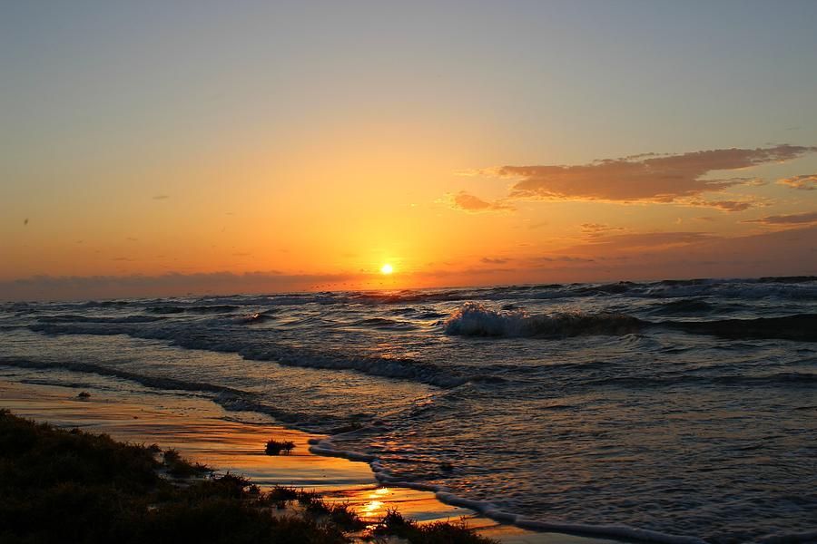 Padre Island Photograph - Padre Sunrise by Candice Trimble