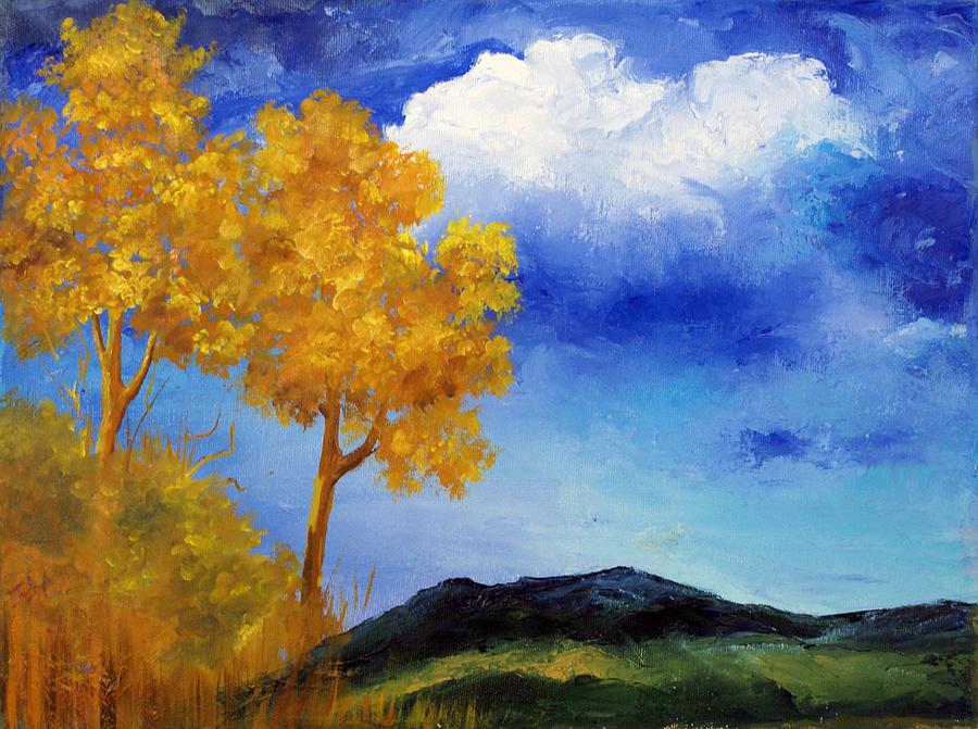 Trees Painting - Paesaggio by Niki Mastromonaco