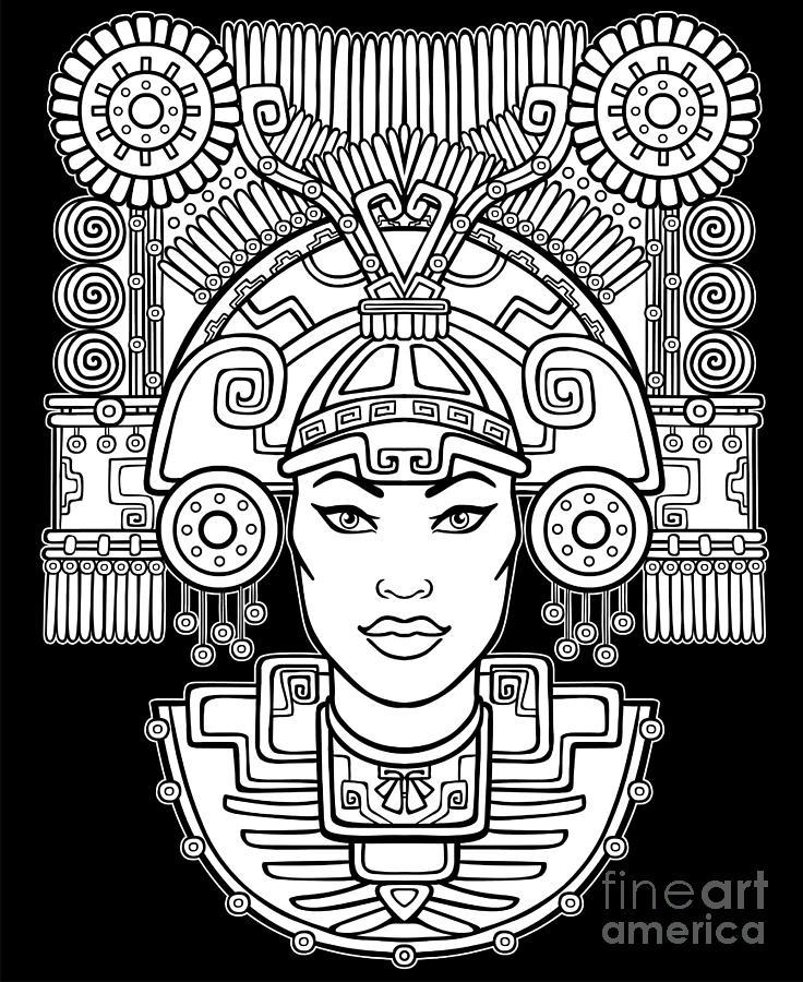 Symbol Digital Art - Pagan Goddess. Motives Of Art Native by Zvereva Yana