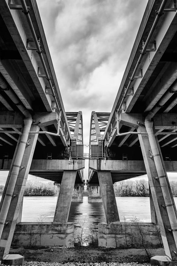 Bridge Photograph - Page Bridge Geometry by Bill Tiepelman