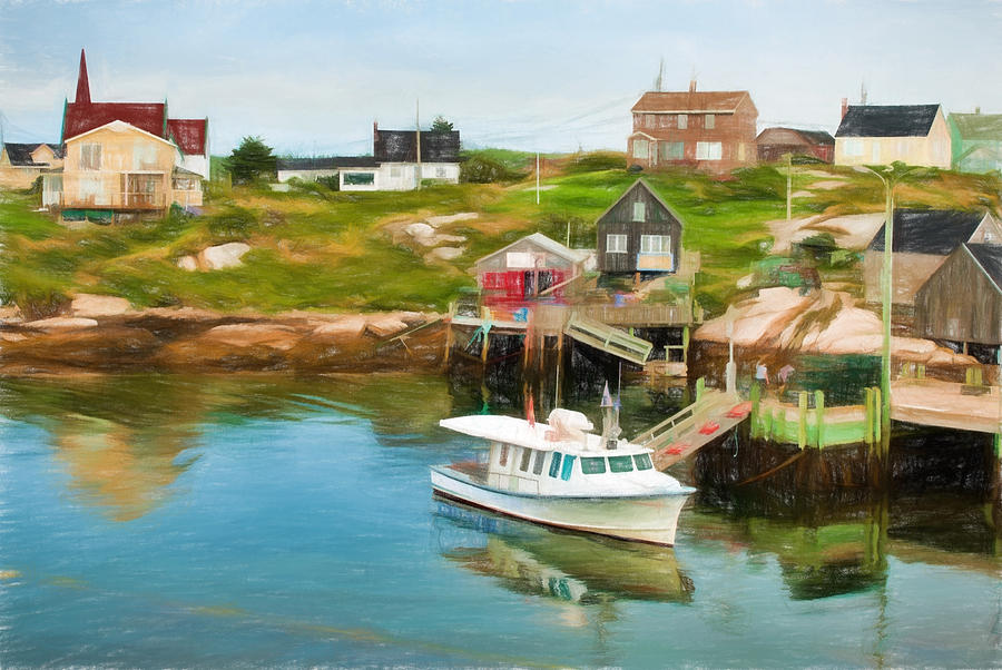Atlantic Photograph - Peggys Cove Boat Tours by Boss Photographic
