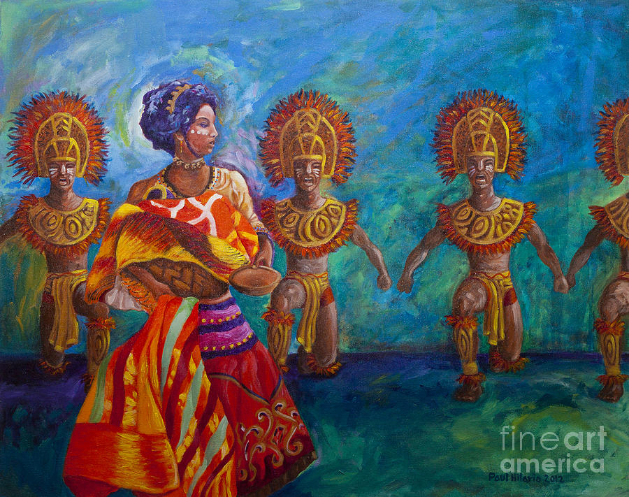 Dinagyang Painting - Paghidaet by Paul Hilario