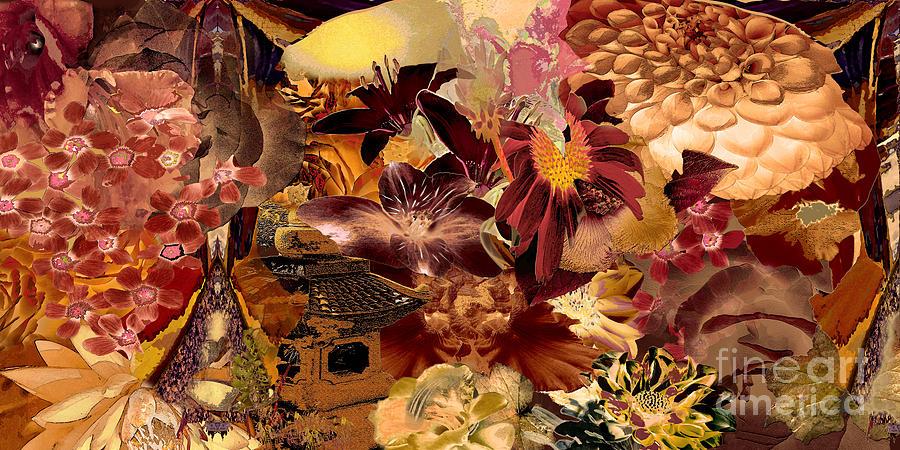 Pagoda Digital Art - Pagoda by Paul Gentille