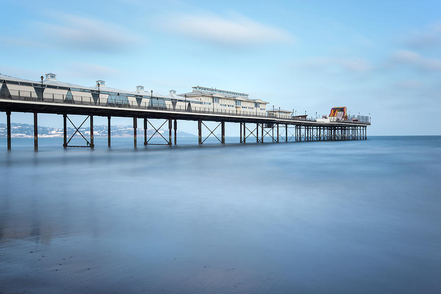 Paignton Pier On A Sunny Day, Devon, Uk Photograph by Nick Cable