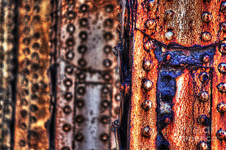 Rust Photograph - Paint And Rust 29 by Jim Wright