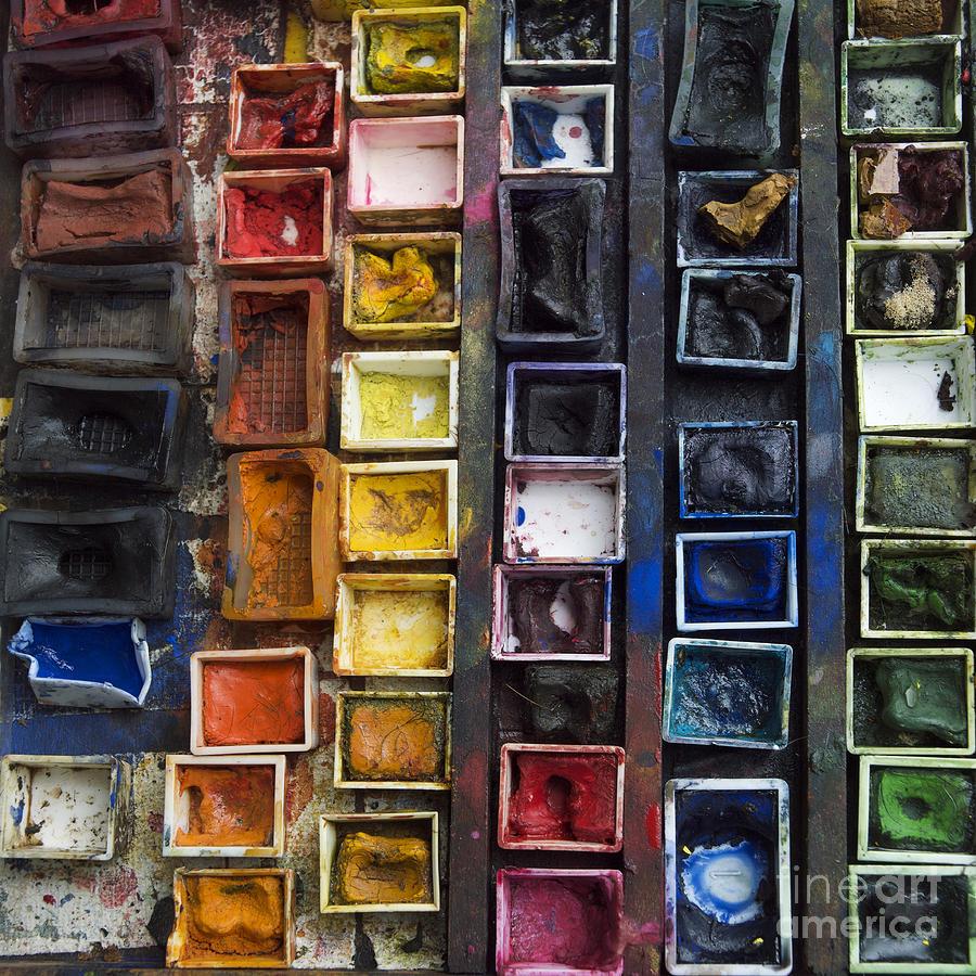 Indoors Photograph - Paint Box by Bernard Jaubert