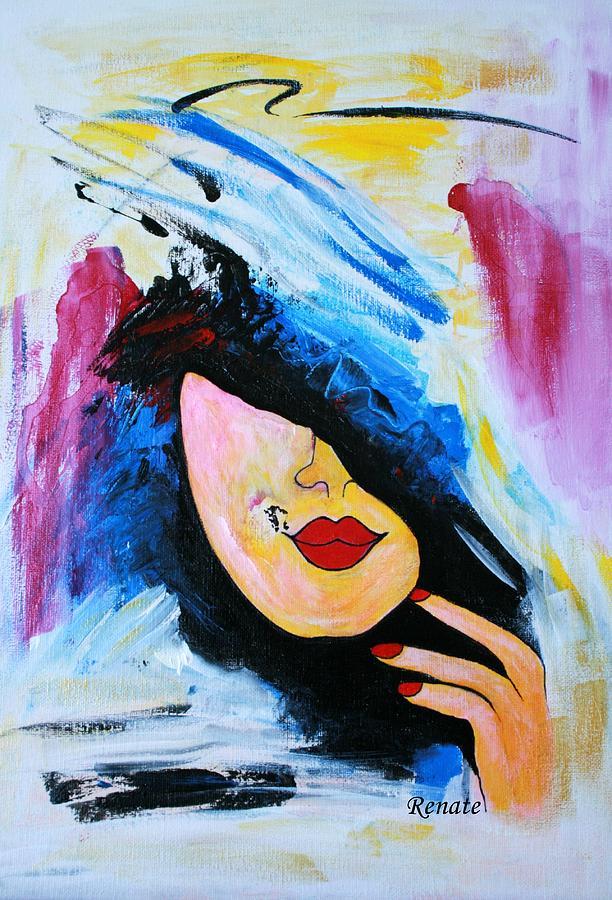 Paint-brush Doodle Painting by Renate Dartois