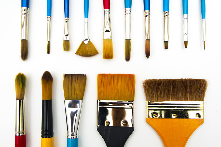 Paint brushes Photograph by Image by Catherine MacBride