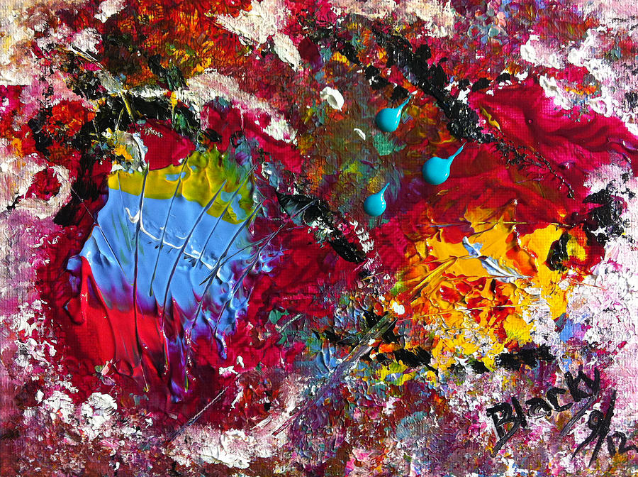 Colorful Abstract Painting - Paint Party by Donna Blackhall