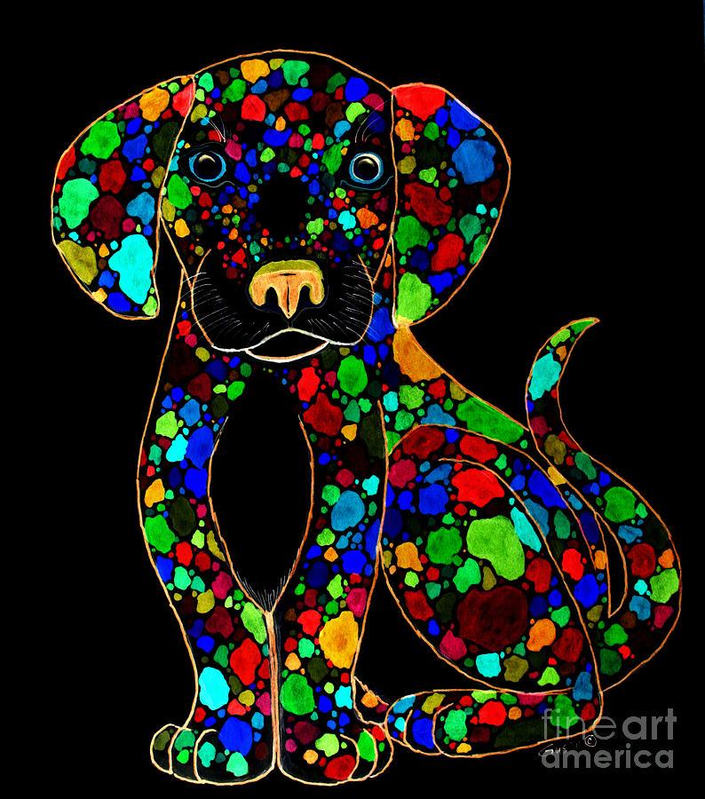 Dog Digital Art - Painted Black Dog by Nick Gustafson