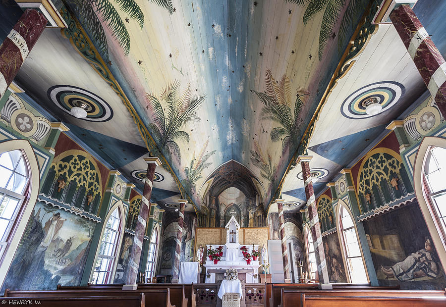 Hawaii Photograph - Painted Church by Henryk Welle