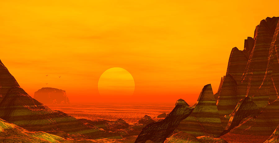 Rocks Digital Art - Painted Desert by John Junek