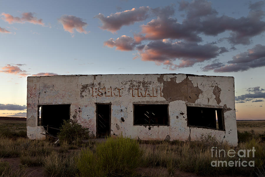 Route 66 Photograph - Painted Desert Trading Post At Sunset by Rick Pisio