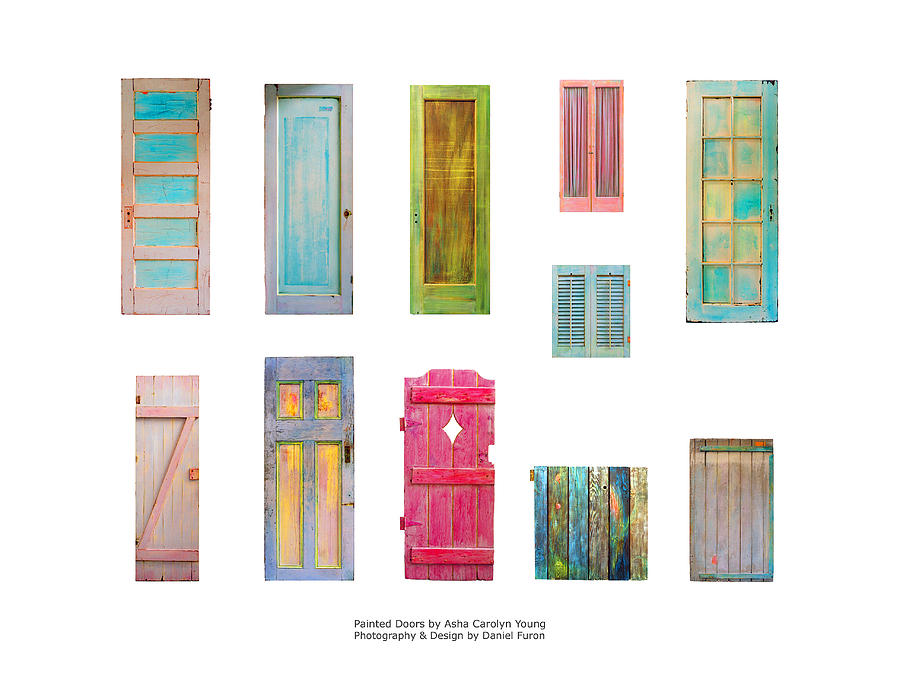 Good Colorful Painting   Painted Doors And Window Panes By Asha Carolyn Young And  Daniel Furon