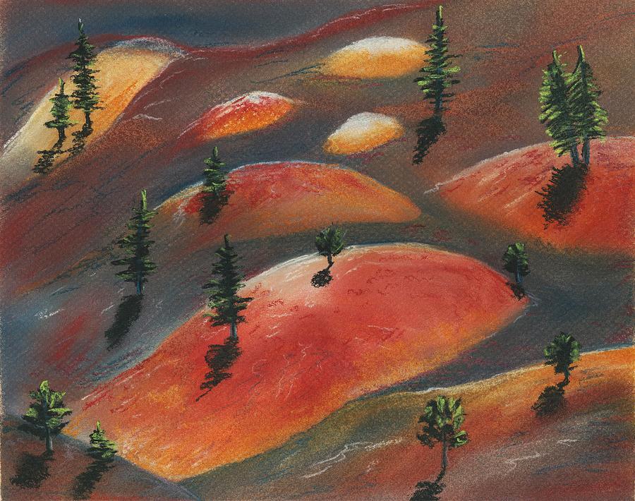 Famous Painting - Painted Dunes by Anastasiya Malakhova