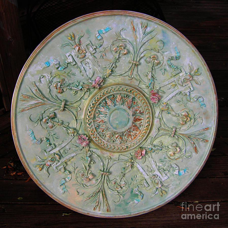 Painted Entry Ceiling Medallion Painting By Lizi Beard Ward