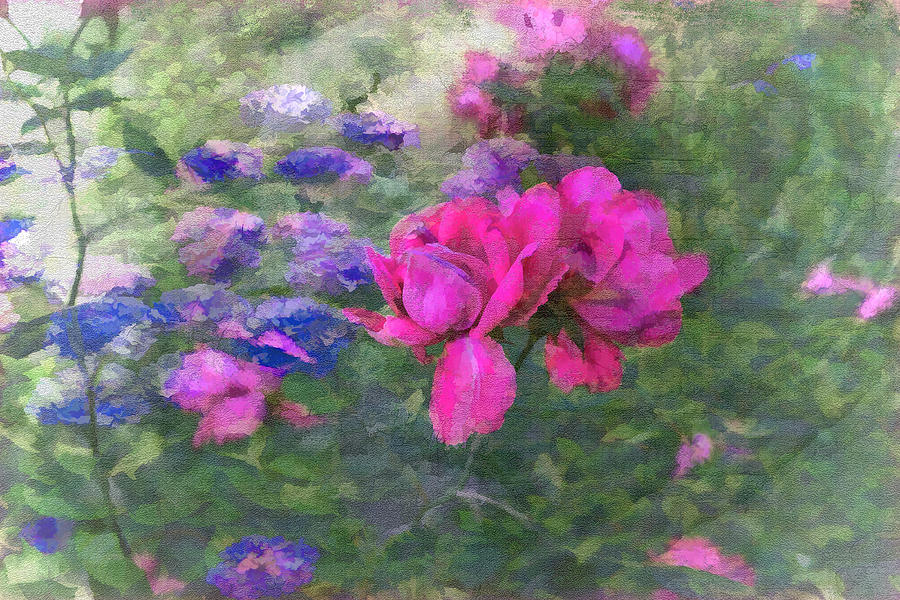 Garden Photograph - Painted Garden by Larry Bishop
