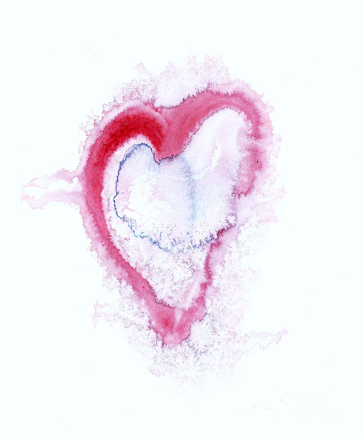 Love Painting - Painted Heart - Symbol Of Love by Michal Boubin