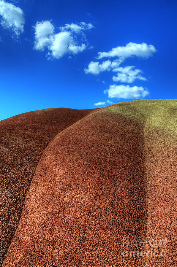 John Day Photograph - Painted Hills Blue Sky 2 by Bob Christopher