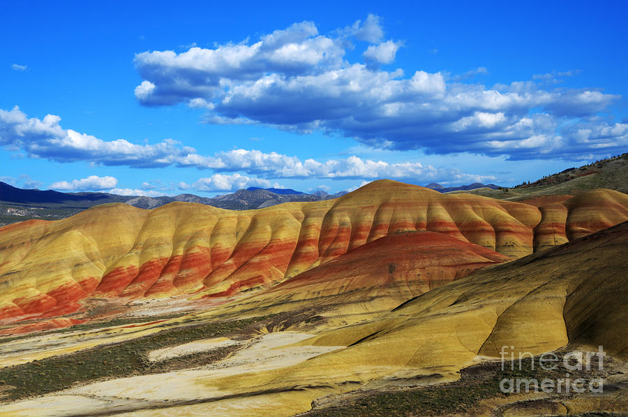 John Day Photograph - Painted Hills Blue Sky 3 by Bob Christopher