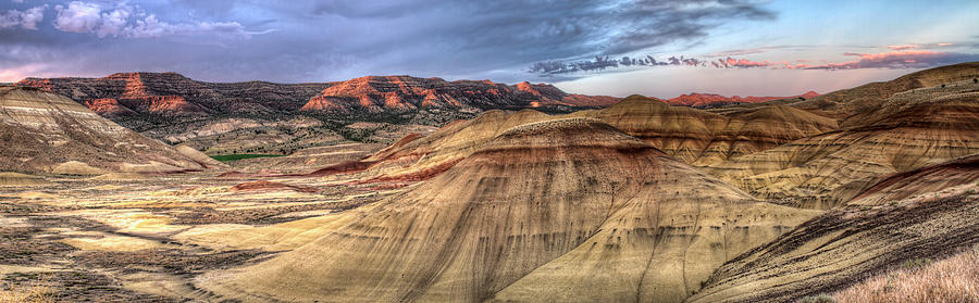 Painted Photograph - Painted Hills In Oregon Panorama by David Gn