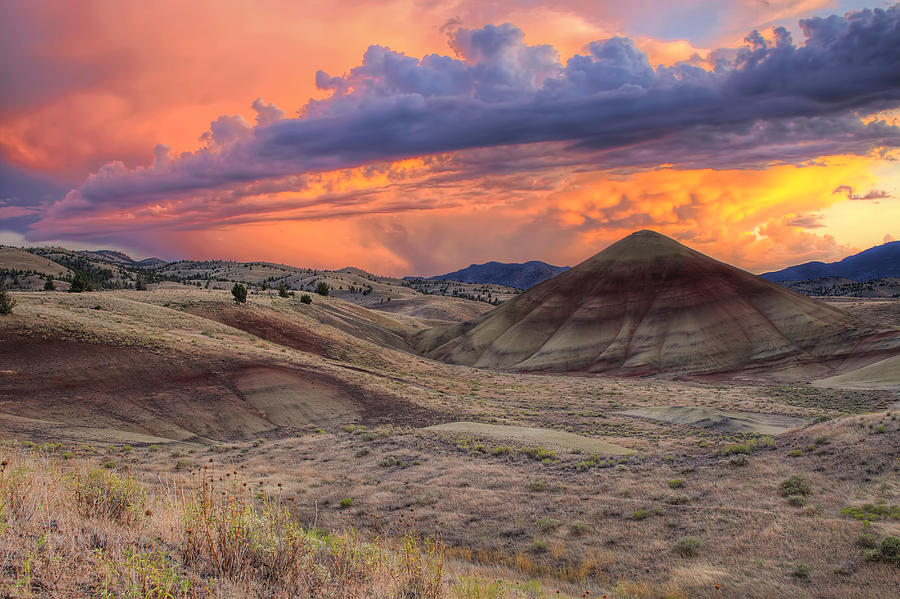 Sunset Photograph - Painted Hills Sunset by David Gn