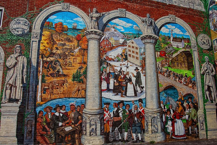 Mural Photograph - Painted History 2 by Joann Vitali