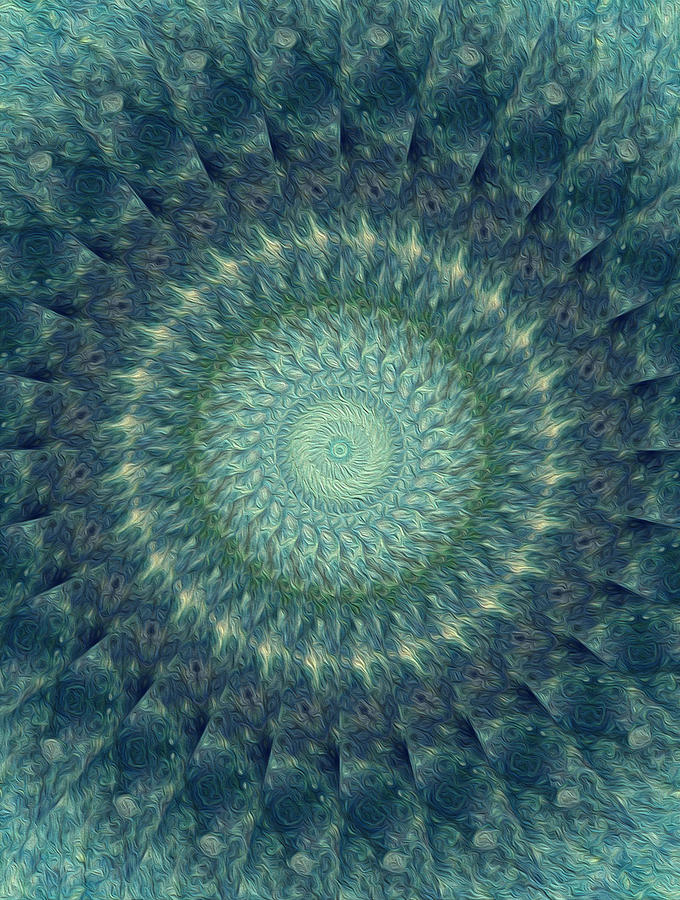 Kaleidoscope Digital Art - Painted Kaleidoscope 6 by Rhonda Barrett