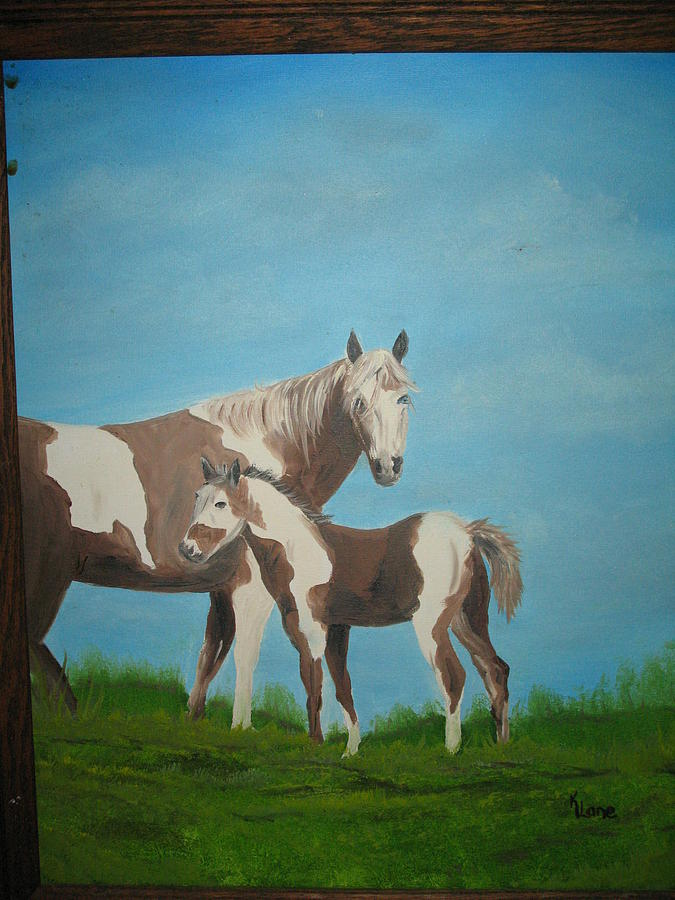 Paint Horses Painting - Painted by Kathy Livermore