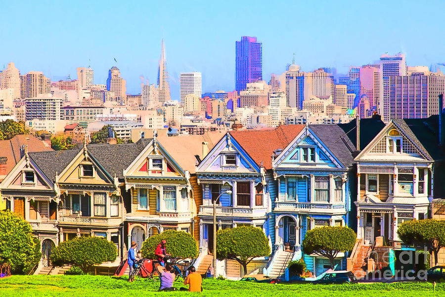 painted ladies of san francisco alamo square 5d27996 photograph by wingsdomain art and photography. Black Bedroom Furniture Sets. Home Design Ideas