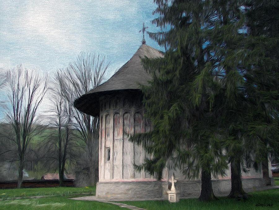 Chapel Painting - Painted Monastery by Jeffrey Kolker