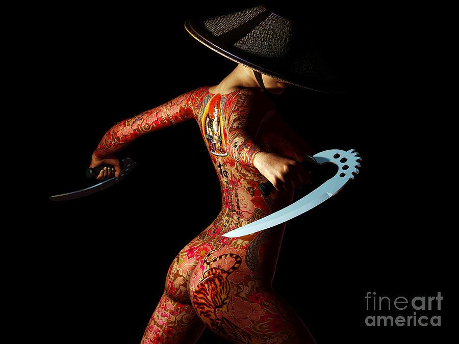 3d Digital Art - Painted Risks 2 by Alexander Butler