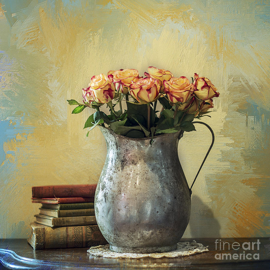 Rose Photograph - Painted Roses by Terry Rowe