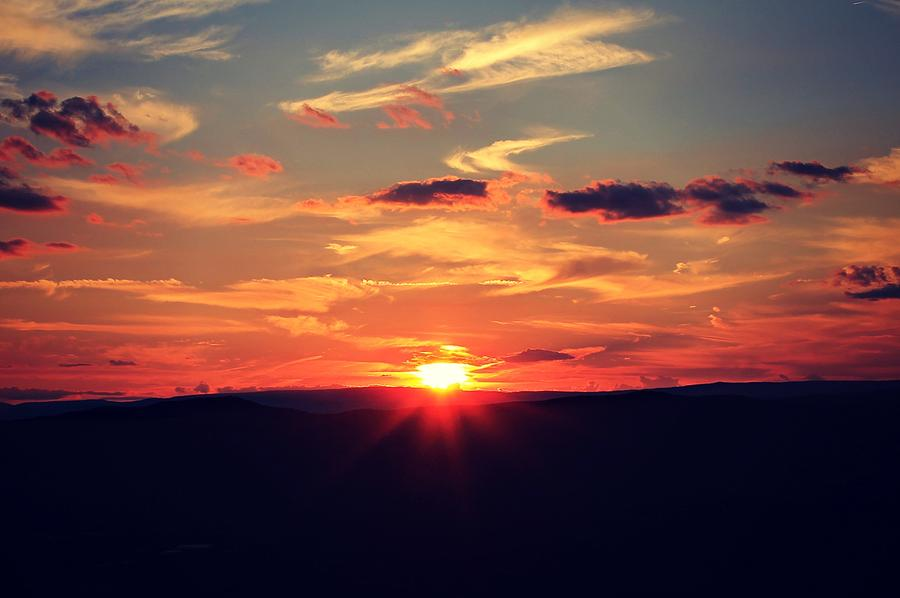 Skyline Drive Photograph - Painted Skies by Candice Trimble