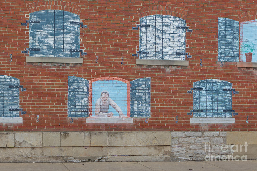 Ste. Genevieve Photograph - Painted Windows by Kay Pickens