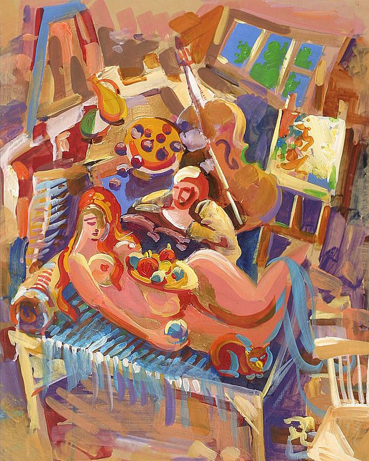 Workshop Painting - Painter In The Workshop by Meruzhan Khachatryan