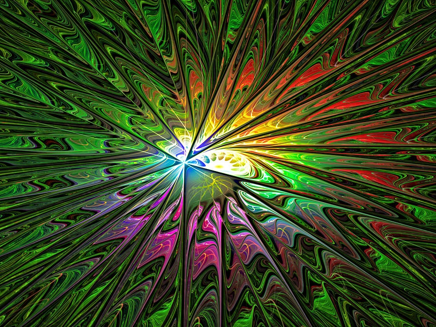 Abstract Digital Art - Painters Galaxy by Janet Russell