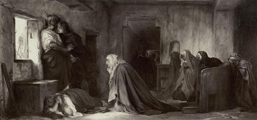 Painting By Paul Delaroche La Vierge Chez Les Saintes Femmes