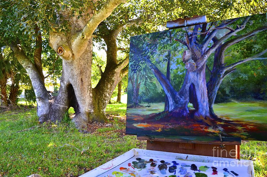 Shade Painting - Painting Hickory Hole by AnnaJo Vahle