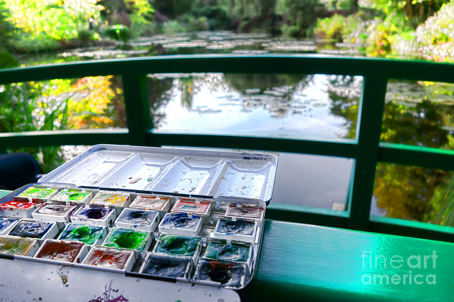 Monet Photograph - Painting in Giverny by Olivier Le Queinec