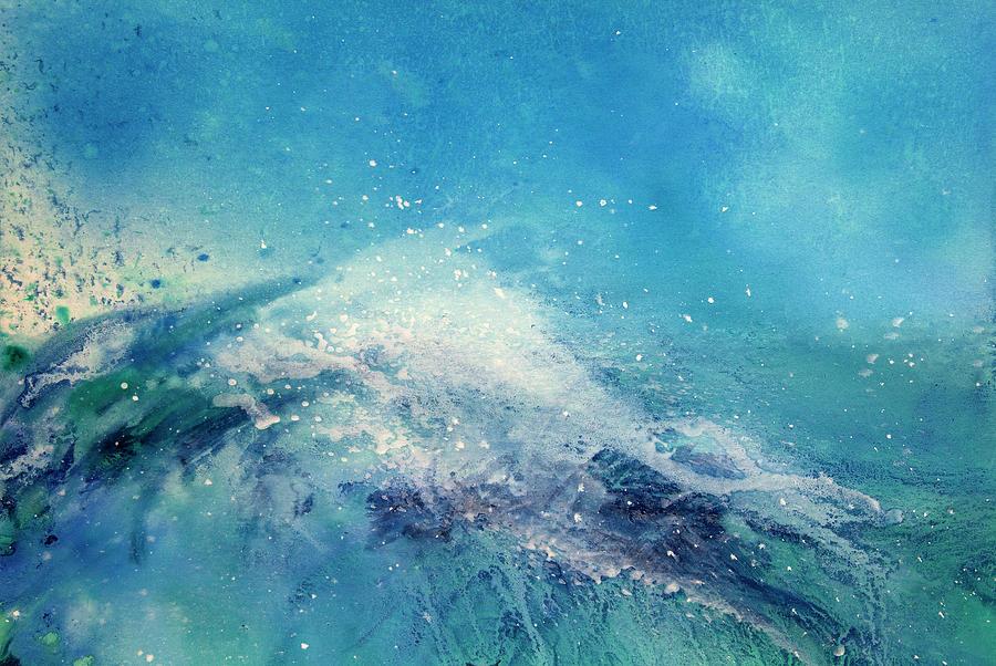 Painting Of An Ocean Wave Digital Art by Brad Rickerby