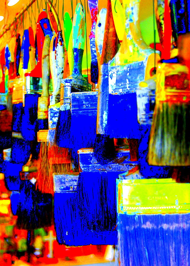 Paintbrushes Photograph - Painting Paintbrushes  by Mamie Gunning