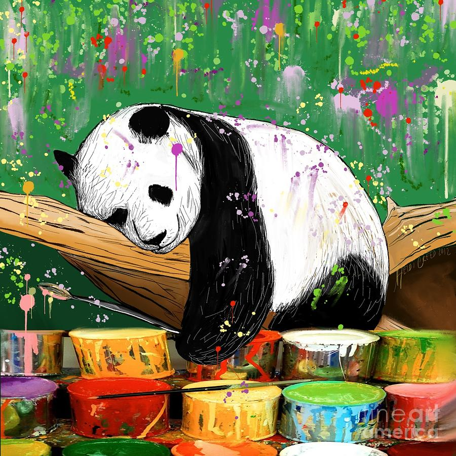 Panda Abstract Art
